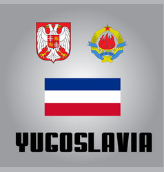 Official government elements of yugoslavia vector