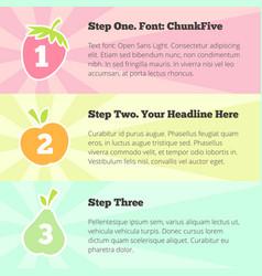 options banner design template - pastel fruits vector image