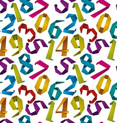 Origami style numbers seamless background vector image