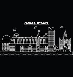 ottawa silhouette skyline canada - ottawa vector image