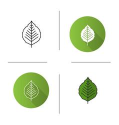 poplar leaf icon vector image