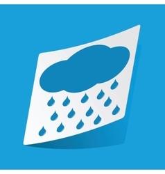 Raining sticker vector