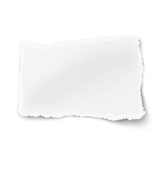 Rectangular square ragged paper fragment vector