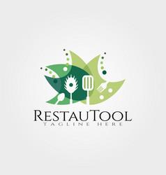 Restaurant tool logo designkitchen tool icon vector