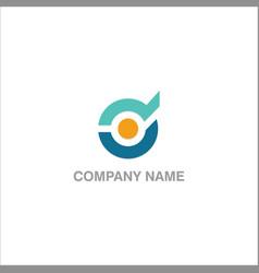 round technology company logo vector image