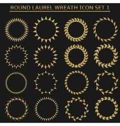 Round wreath set vector