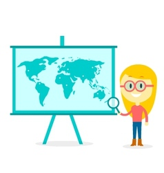 Searching all over the world vector