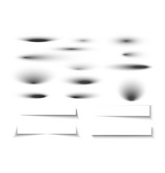 shadow set on white background oval shadows and vector image