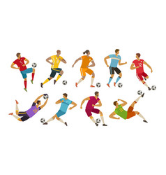 soccer players sport concept cartoon vector image