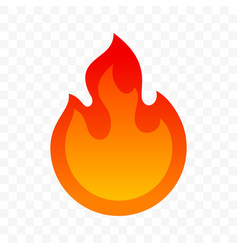 spicy chili hot fire flame icon spicy fast food vector image