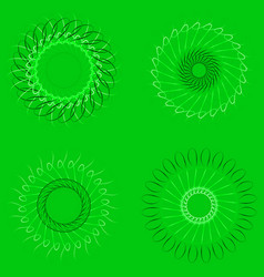 spirographs on a green background vector image