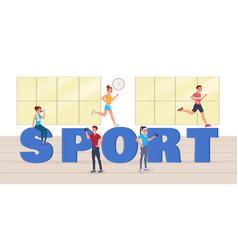 sport big letters vector image