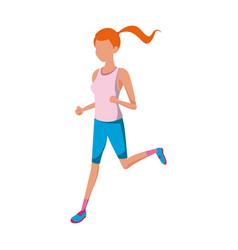 Sport girl fitness exercise athlete vector
