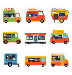 street food festival color trailer vector image