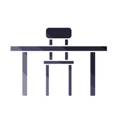 table and chair icon vector image