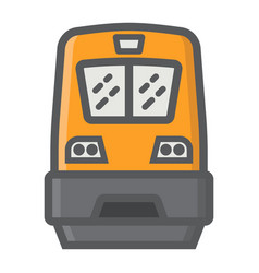 train filled outline icon transport and vehicle vector image