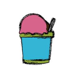 tumbler ice cream vector image