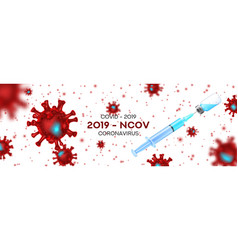 vaccine testing vs coronavirus banner concept vector image