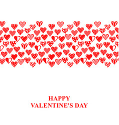 Valentines day card with decorative hearts vector