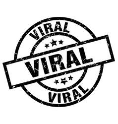 Viral round grunge black stamp vector