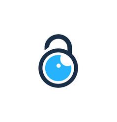 vision security logo icon design vector image