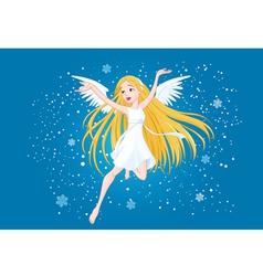 Winter fairy vector image
