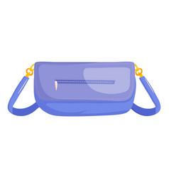 woman baguette bag vector image