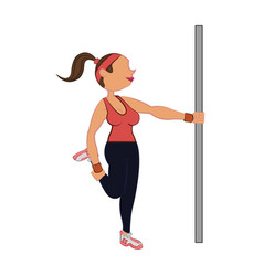 Woman doing aerobics vector