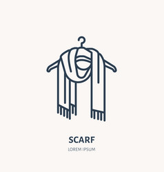 Woolen scarf knitted clothing vector