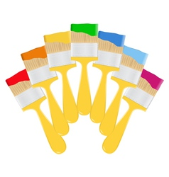 yellow paintbrushes vector image