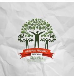 nature logo design template ecology or bio icon vector image vector image