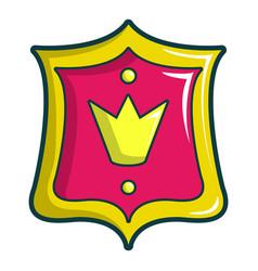 princess emblem icon cartoon style vector image