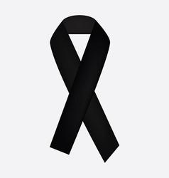 Black ribbon icon vector image