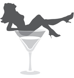 Burlesque dance female silhouette vector