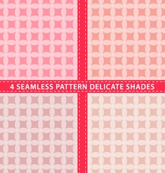 Set of seamless pattern delicate shades vector image vector image