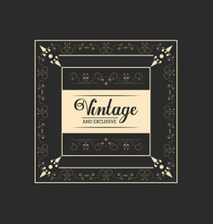 vintage and exclusive badge lettering elegant vector image vector image