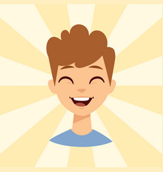 Young man smiling person caucasian attractive vector