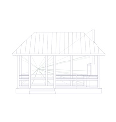 Architectural sketch vector image vector image