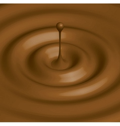 chocolate hot vector image