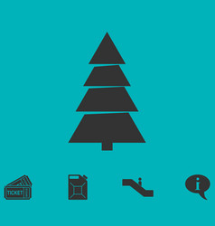 fir tree icon flat vector image