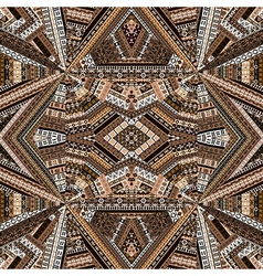 Kaleidoscope made of brown tones ethnic patchwork vector image vector image