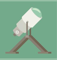 telescope flat icon vector image