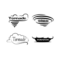 Tornado set Logotypes and signs vector image vector image