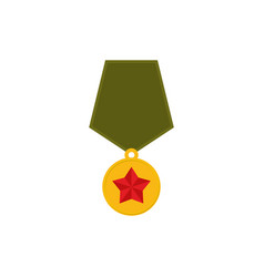 army medal isolated military reward on white vector image vector image