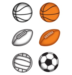 ball set vector image vector image