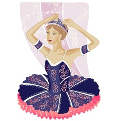 Ballerina Black vector image