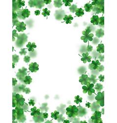 saint patricks day frame eps 10 vector image