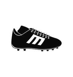 Sport shoe with cleats icon vector image