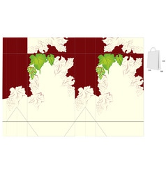template for bag design with grapevine vector image