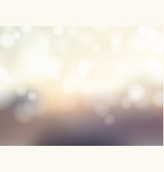 abstract blurred background with bokeh sparkling vector image